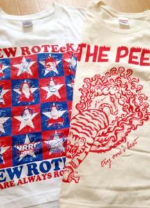 ニューロティカTシャツはブルーベース!ピーズTシャツはイエローベースでした!
