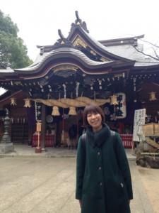 大きなしめ縄のある櫛田神社