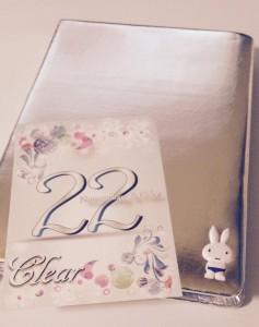 シルバーのノートとクリアのカラーカード☆